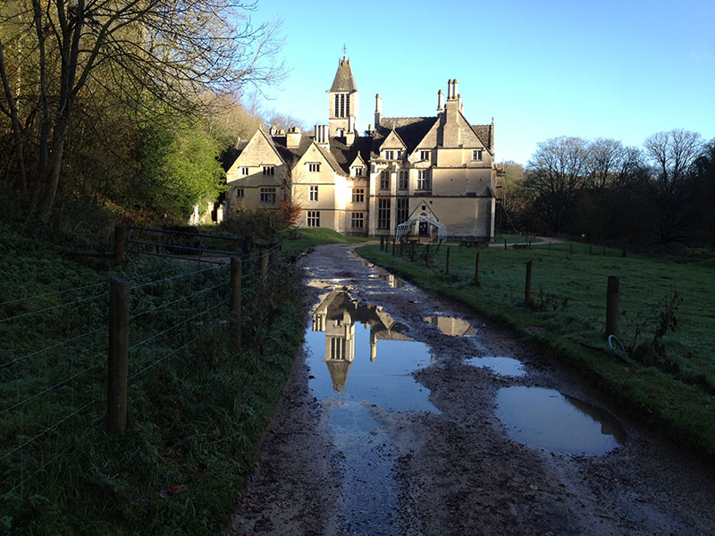 Gothic manor at Woodchester Park