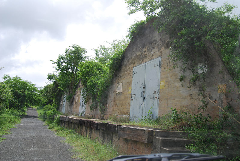 Old US bunkers on Vieques