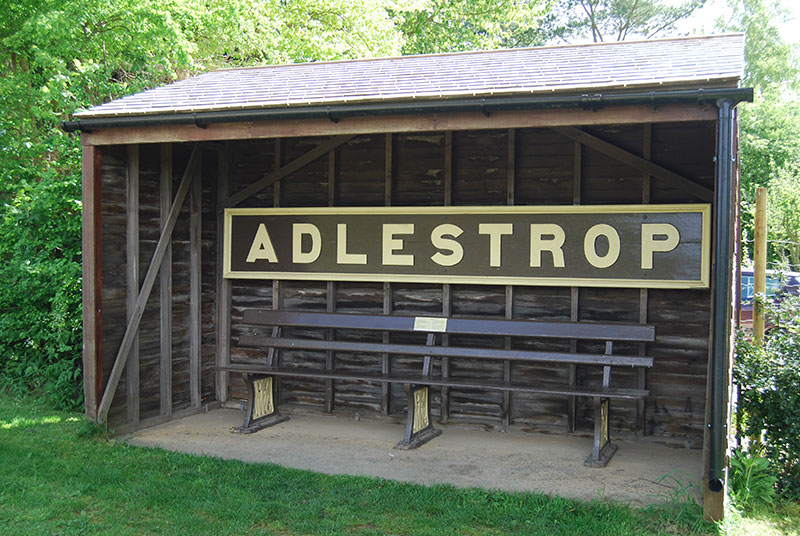 Old railway sign at Adlestrop