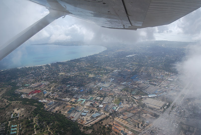 On approach to Zanzibar