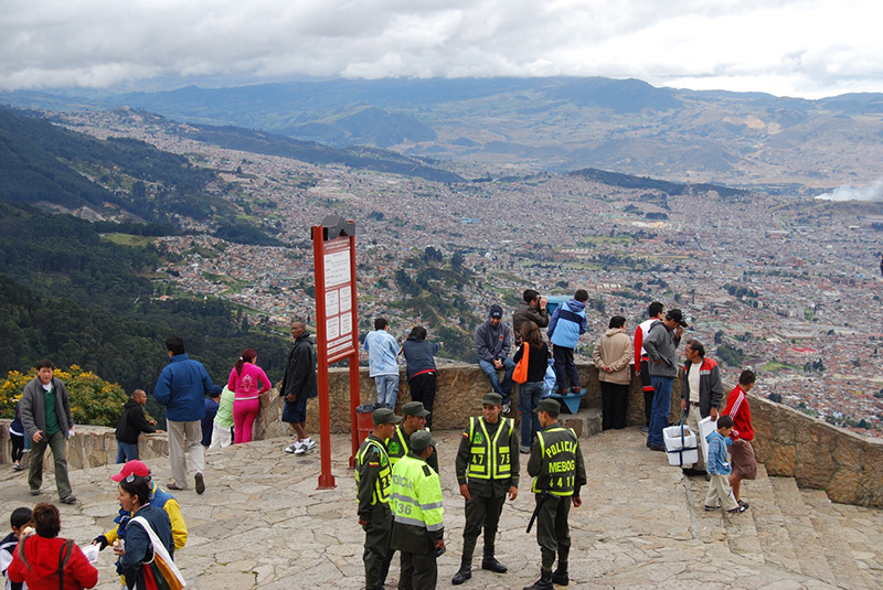 View from above Bogota