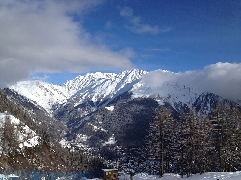 View from the slopes at Courmayeur