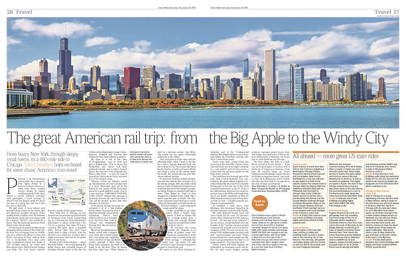 Chicago: The great American rail trip
