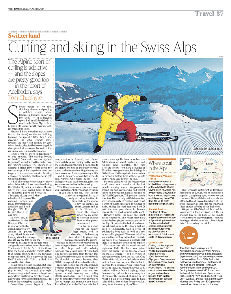 Switzerland: Curling and skiing in the Swiss Alps