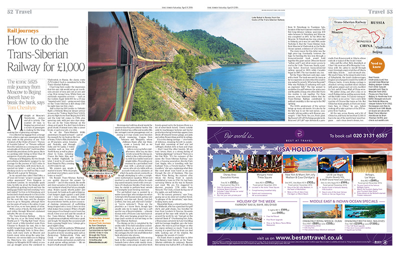How to do the Trans-Siberian Railway for £1000